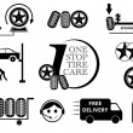 Tire Car service maintenance icon set — Stock Vector #64032381