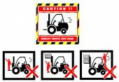 Forklift zone traffic caution keep clear — Vettoriale Stock