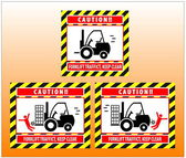 Forklift zone traffic caution keep clear — Stock Vector