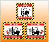 Forklift zone traffic caution keep clear — Vetor de Stock