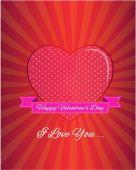 Happy Valentine's Day illustration — Vettoriale Stock