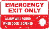Emergency Exit in vintage style — Stock Vector