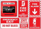 Set of Fire Alarm — Stock Vector