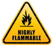 Flammable Warning Sign — Stock Vector