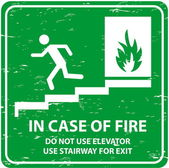 Emergency Exit sign — Stock Vector