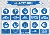 Food production safety icons — Wektor stockowy