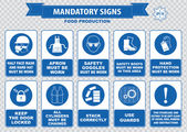 Food Production warning signs — Vettoriale Stock