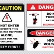 Electrical safety signs set — Stock Vector #73713633