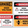 Electrical safety signs — Stock Vector #73713145