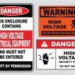 Electrical safety signs — Stock Vector #73713157