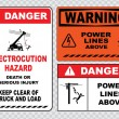 Electrical safety signs set — Stock Vector #73713369