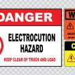 Electrical safety signs set — Stock Vector #73713389