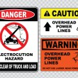 Electrical safety signs set — Stock Vector #73713407