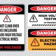 High voltage warning signs — ストックベクタ #73713469