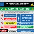 Industrial, construction  site safety signs — Stock Vector #73713517