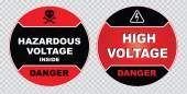 Electrical safety signs — Stock Vector