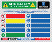 Industrial, construction  site safety signs — Stock Vector