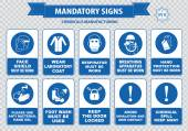 Chemical or Medical Mandatory signs — Stock Vector
