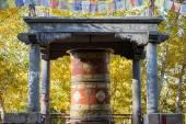 Prayer wheel in Leh City Ladakh ,India — Stok fotoğraf