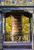 Prayer wheel in Leh City Ladakh ,India — Stock Photo