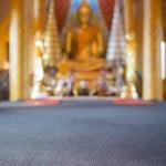 Blured focus background Golden Buddha statue in temple ,Thailand — Stock Photo #63819761