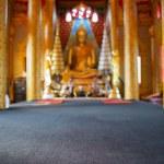 Blured focus background Golden Buddha statue in temple ,Thailand — Stock Photo #63820003