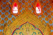 Traditional Thai style art painting on wall  in temple ,Thailand — Stock Photo