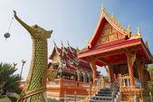 Golden swan statue in Buddhist temple ,Thailand — Fotografia Stock