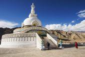 Shanti Stupa Leh Ladakh ,India - September 2014 — Stock Photo