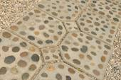 Rock foot path decoration background and texture. — Stock Photo