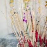 Joss stick pot at the graveyard,Thailand — Stock Photo #68441045