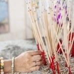 Joss stick pot at the graveyard,Thailand — Stock Photo #68441913