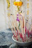 Joss stick pot at the graveyard,Thailand — Stock Photo
