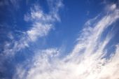 Nice Blue Sky and Cloud Background — Stock Photo