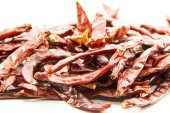Dried chilli peppers raw seasoning — Foto Stock