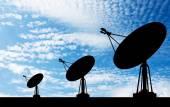 Satellite shadow sky background — Stock Photo