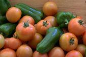 Tomates y pimientos. — Foto de Stock