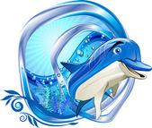 Dolphin — Stok Vektör