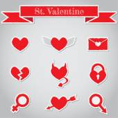 Set of paper hearts — Stock Vector