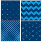 Blue vintage pattern — Stock Vector