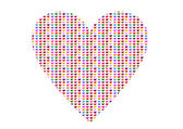 Heart made from heart pattern — Fotografia Stock