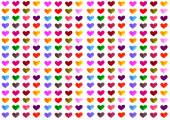 Colorful heart pattern — Stock Photo