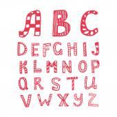 Vector mano dibujada doodle Abc, alfabeto — Vector de stock
