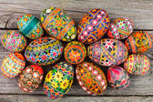 Easter eggs on the rusted board  — Zdjęcie stockowe