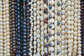 Bead necklaces displayed for sale — Stock Photo