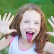 Portrait of a cute little girl — Stock Photo #81589280