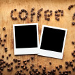 Instant photos with coffee beans — Stock Photo #63052879