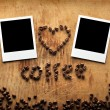 Instant photos with coffee beans — Stock Photo #63053343