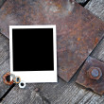 Instant photo on dark grunge background — Stock Photo #63053629