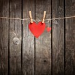 Two lovely red hearts — Stock Photo #63053751